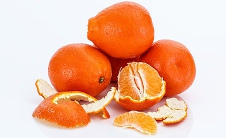 a pealed mandarin