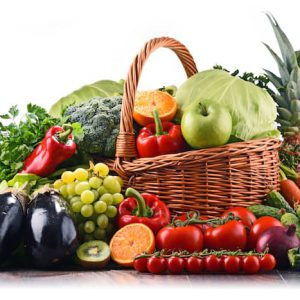 extra large basket of fruit and vegetables from fruit n vegies r us perth