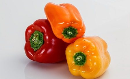 red Capsicum, yellow Capsicum, orange Capsicum