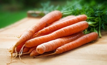a group of orange carrots