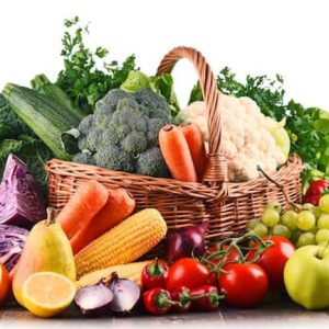 Large basket of fruit and vegetables from fruit n vegies r us perth