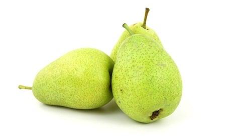 3 green pears