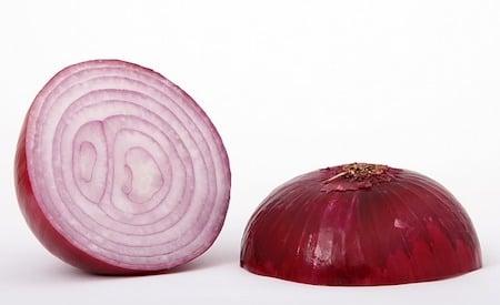 red onion cut in half
