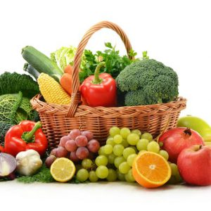 Small basket of fruit and vegetables from fruit n vegies r us perth