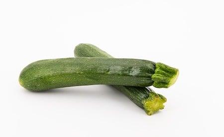 2 zucchini's uncut